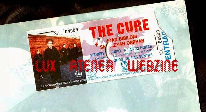entrada the cure gira 1989