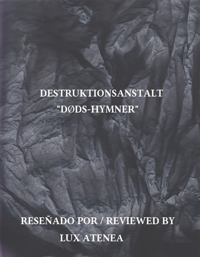 DESTRUKTIONSANSTALT - DØDS-HYMNER