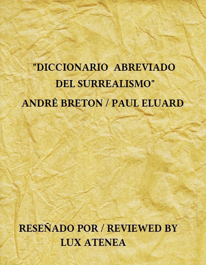 DICCIONARIO ABREVIADO DEL SURREALISMO ANDRE BRETON PAUL ELUARD