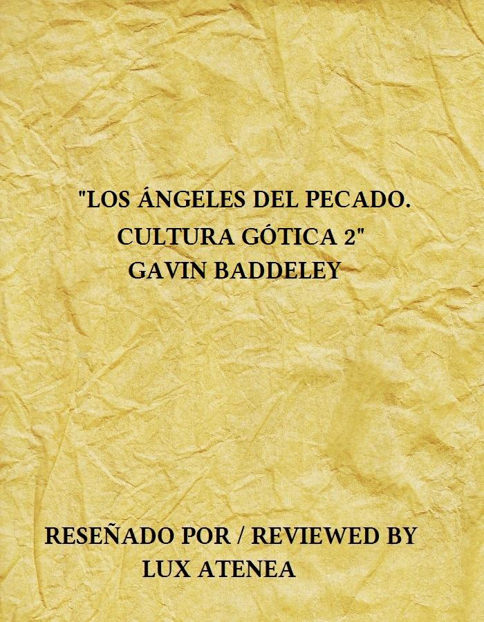 LOS ANGELES DEL PECADO CULTURA GOTICA 2 GAVIN BADDELEY