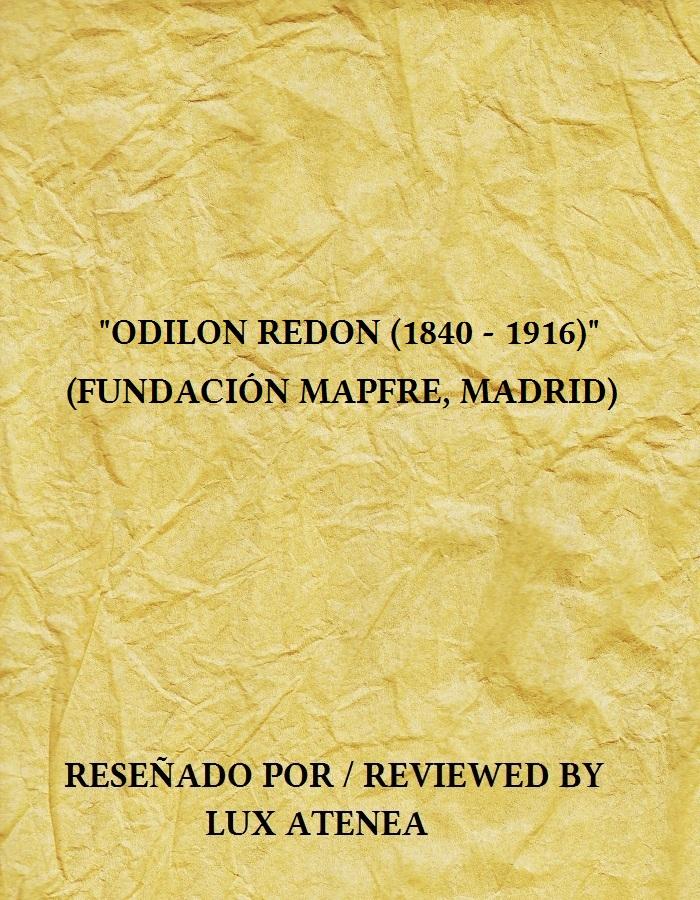 ODILON REDON 1840-1916 CATALOGO EXPOSICION FUNDACION MAPFRE