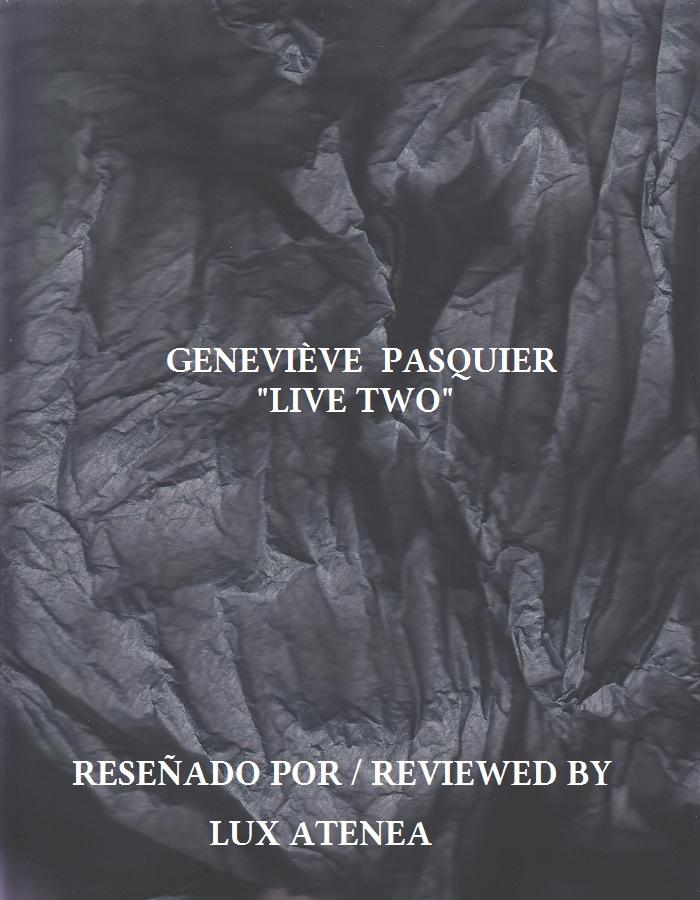 GENEVIÈVE PASQUIER - LIVE TWO