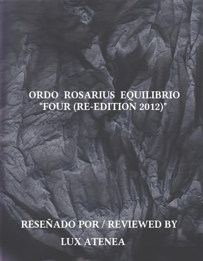 ORDO ROSARIUS EQUILIBRIO - FOUR (RE-EDITION 2012)
