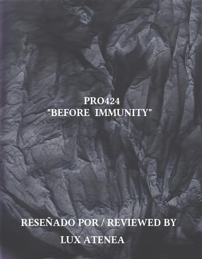 PRO424 - BEFORE IMMUNITY