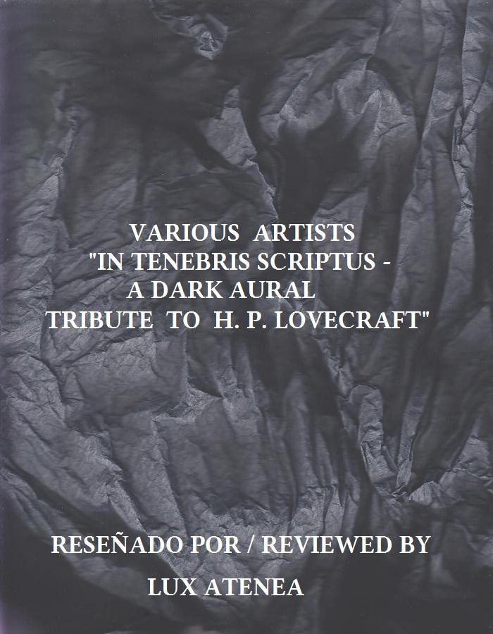 VV.AA. IN TENEBRIS SCRIPTUS - A DARK AURAL TRIBUTE TO H. P. LOVECRAFT