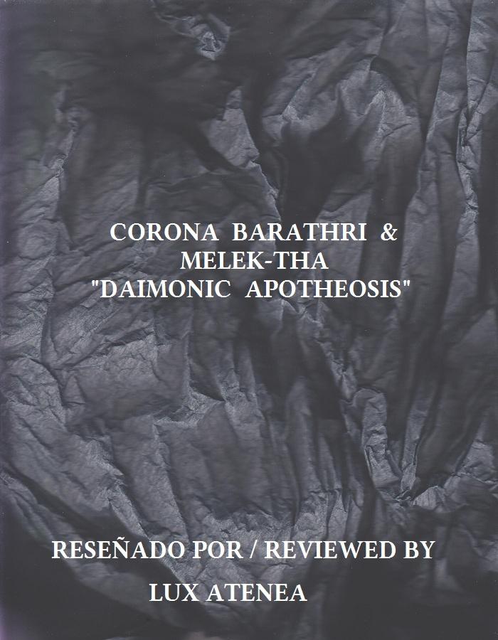 CORONA BARATHRI & MELEK-THA - DAIMONIC APOTHEOSIS