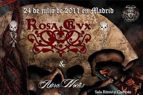 Cartel Rosa Crvx y Aura Noctis M