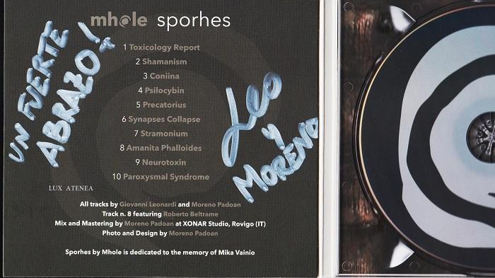 dedicatoria Mhole - Sporhes digipak CD