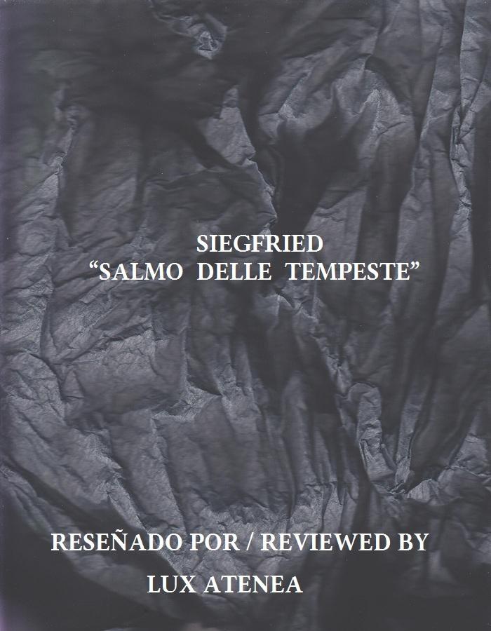 SIEGFRIED - SALMO DELLE TEMPESTE