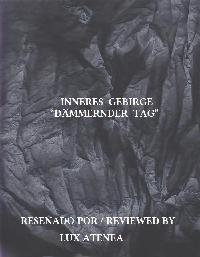 INNERES GEBIRGE - DÄMMERNDER TAG