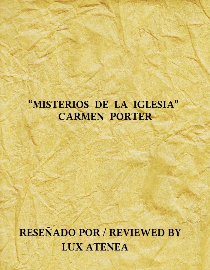 CARMEN PORTER - MISTERIOS DE LA IGLESIA