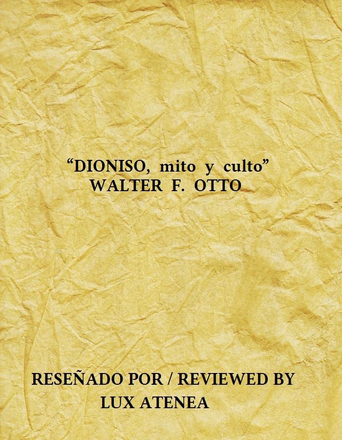 DIONISO mito y culto - WALTER F OTTO