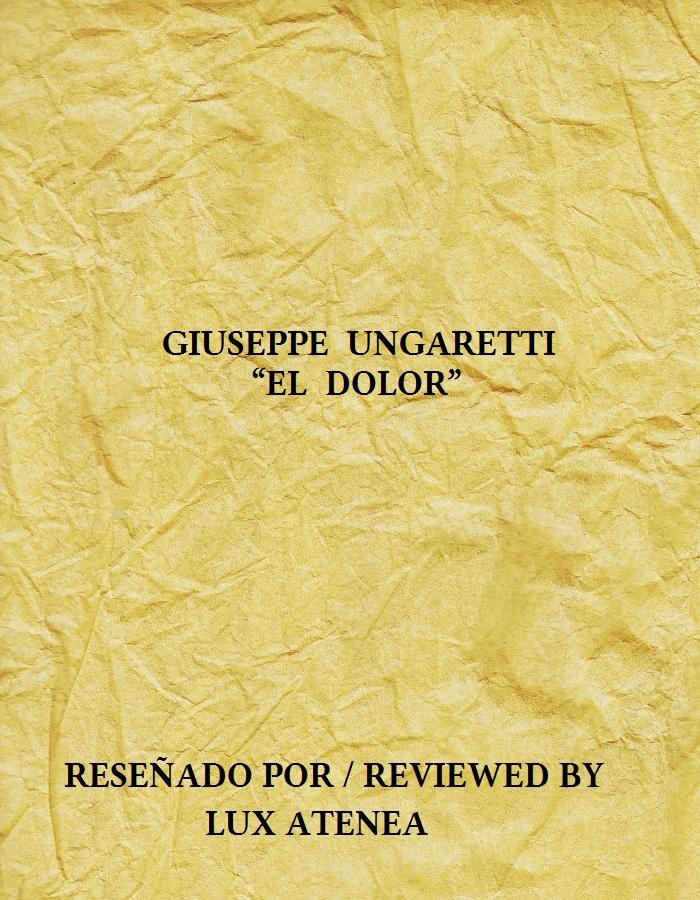 GIUSEPPE UNGARETTI - EL DOLOR