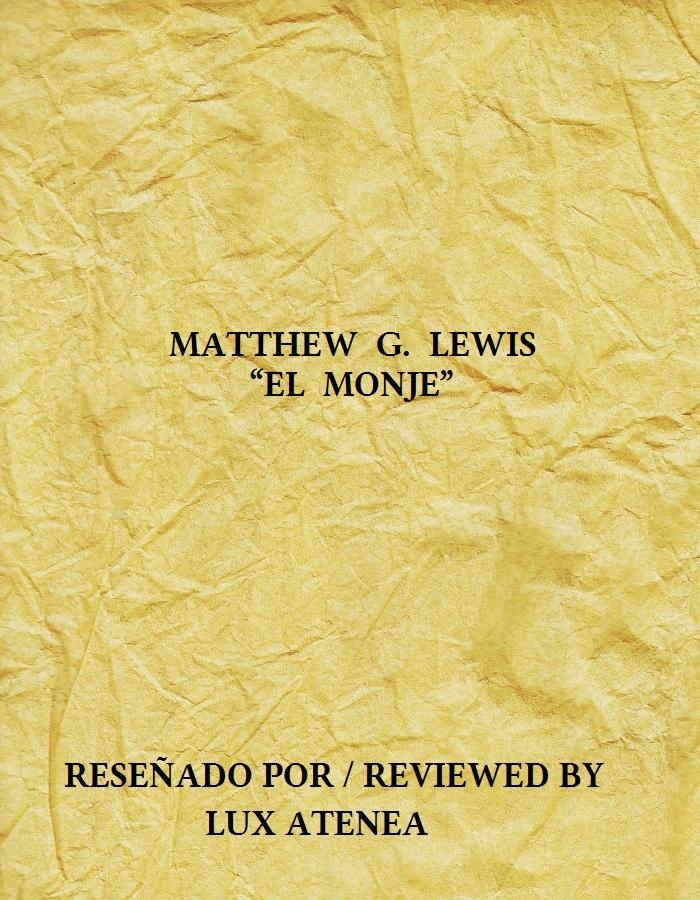 MATTHEW G LEWIS - EL MONJE