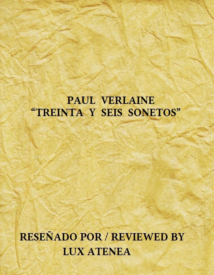 PAUL VERLAINE - TREINTA Y SEIS SONETOS