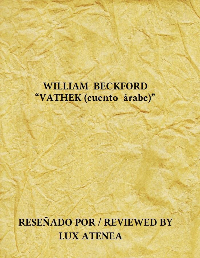 WILLIAM BECKFORD - VATHEK cuento árabe