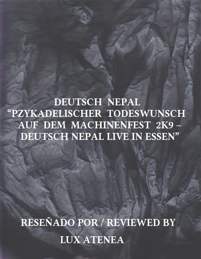DEUTSCH NEPAL - PZYKADELISCHER TODESWUNSCH AUF DEM MACHINENFEST 2K9