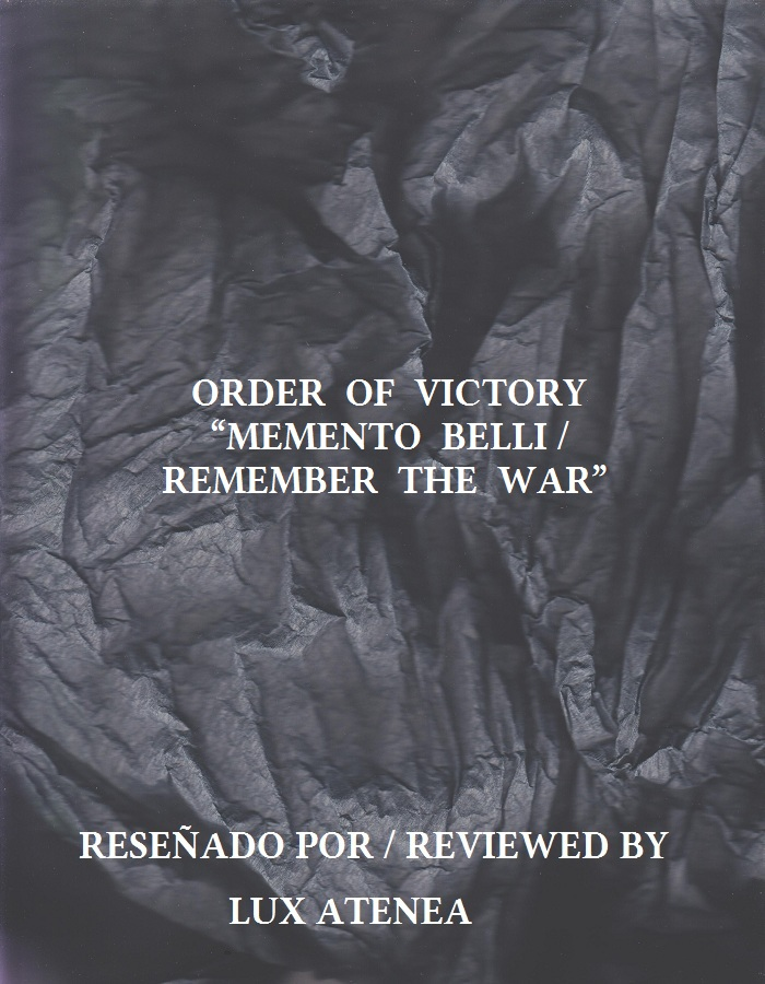 ORDER OF VICTORY - MEMENTO BELLI REMEMBER THE WAR