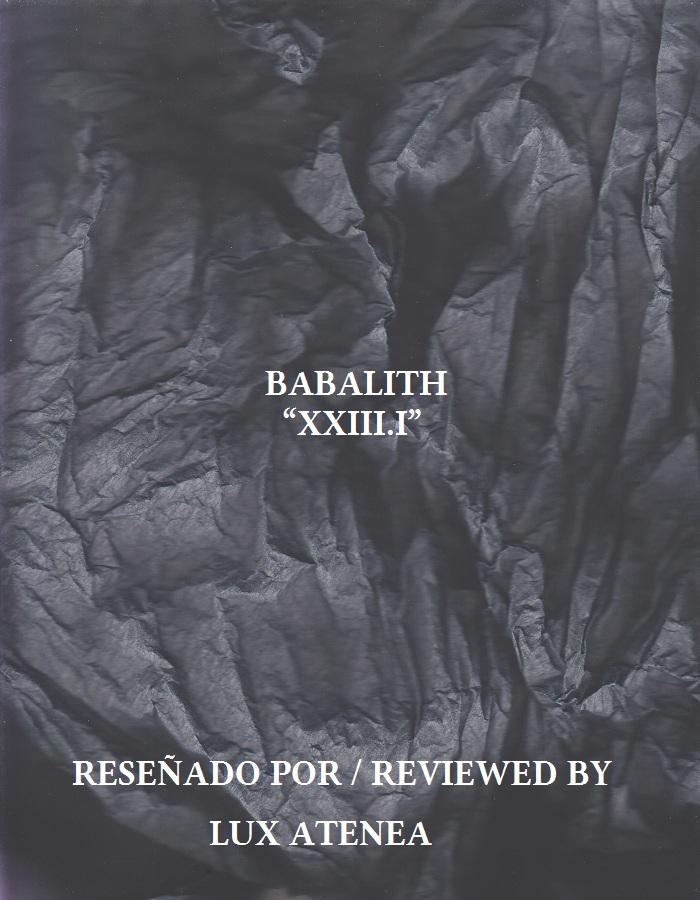 BABALITH - XXIII I