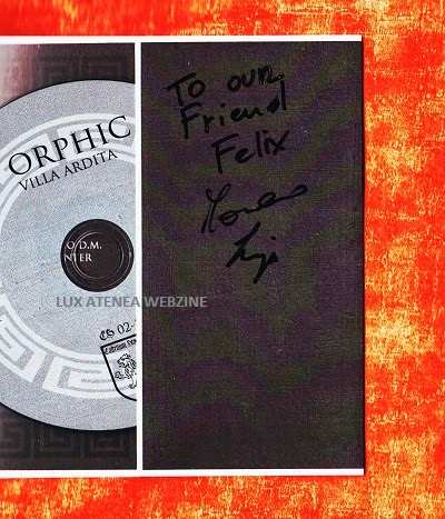 J Orphic dedicatoria CD