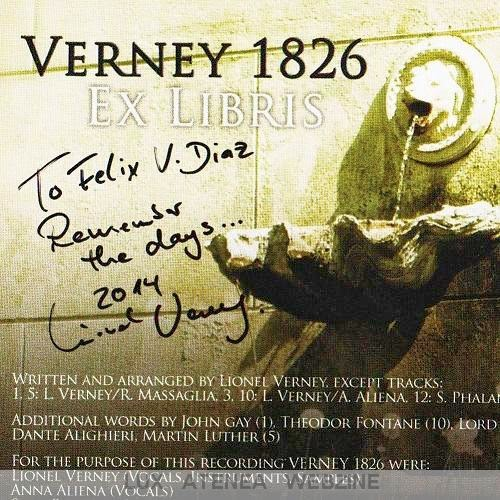 VERNEY 1826 CD dedicatoria