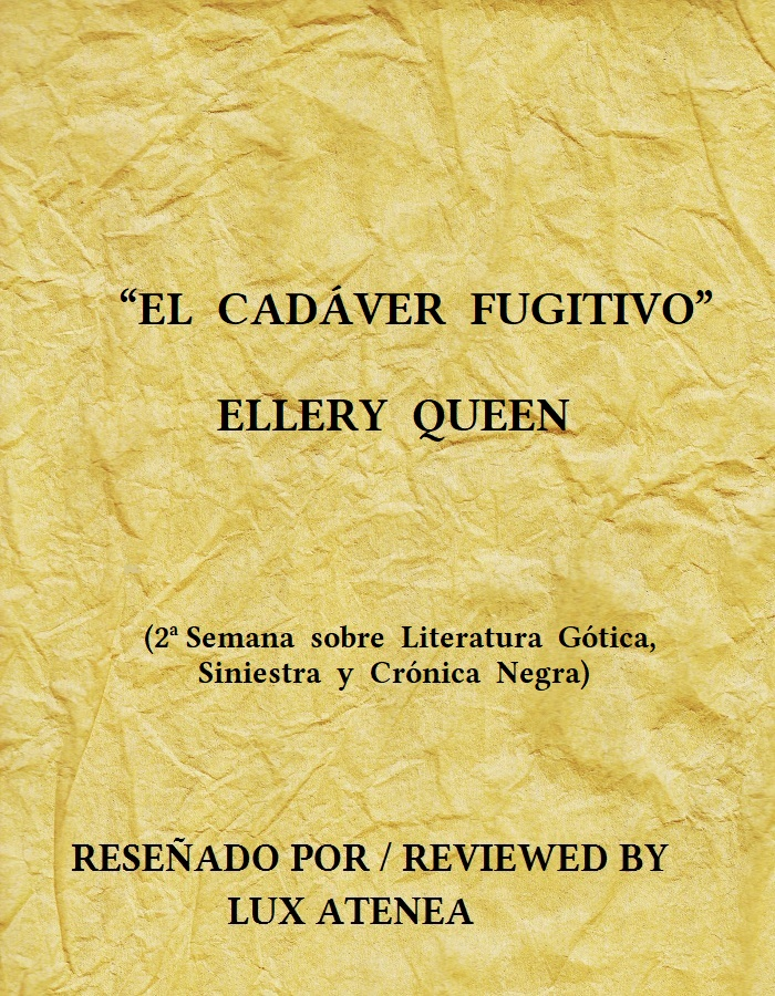 EL CADÁVER FUGITIVO ELLERY QUEEN