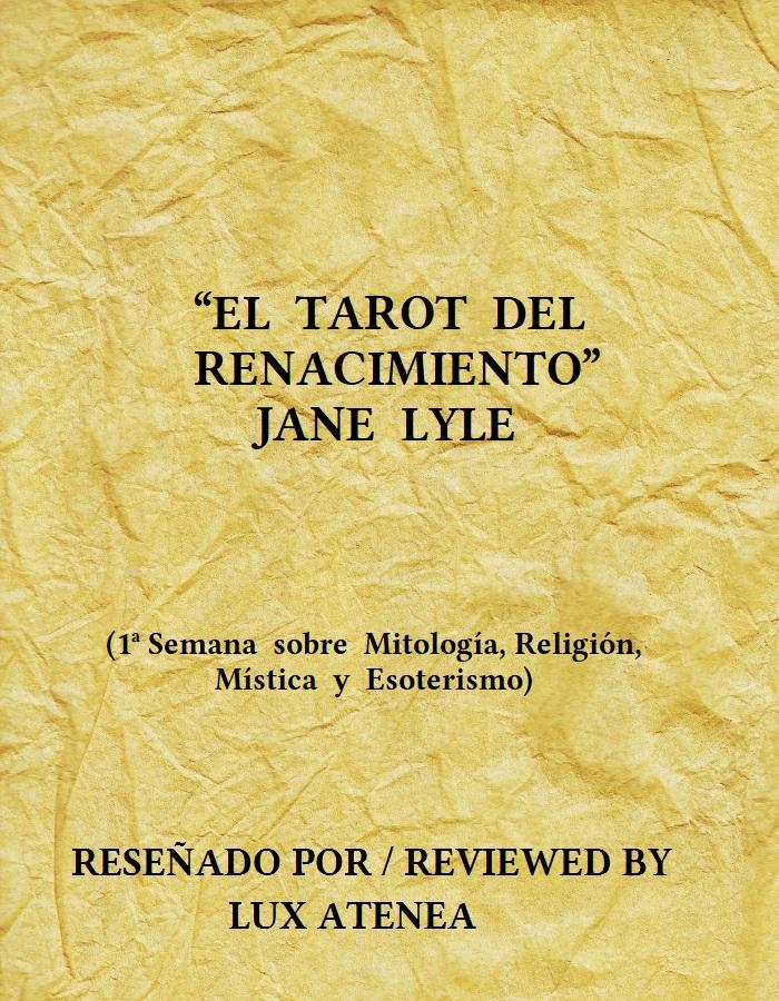 EL TAROT DEL RENACIMIENTO - JANE LYLE