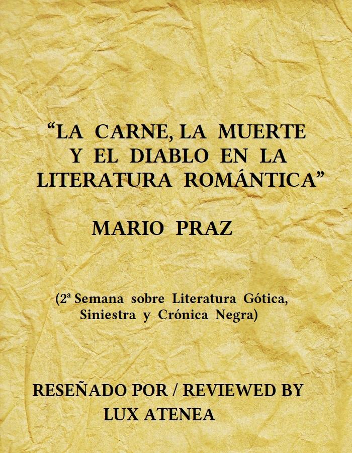 LA CARNE LA MUERTE Y EL DIABLO EN LA LITERATURA ROMÁNTICA MARIO PRAZ