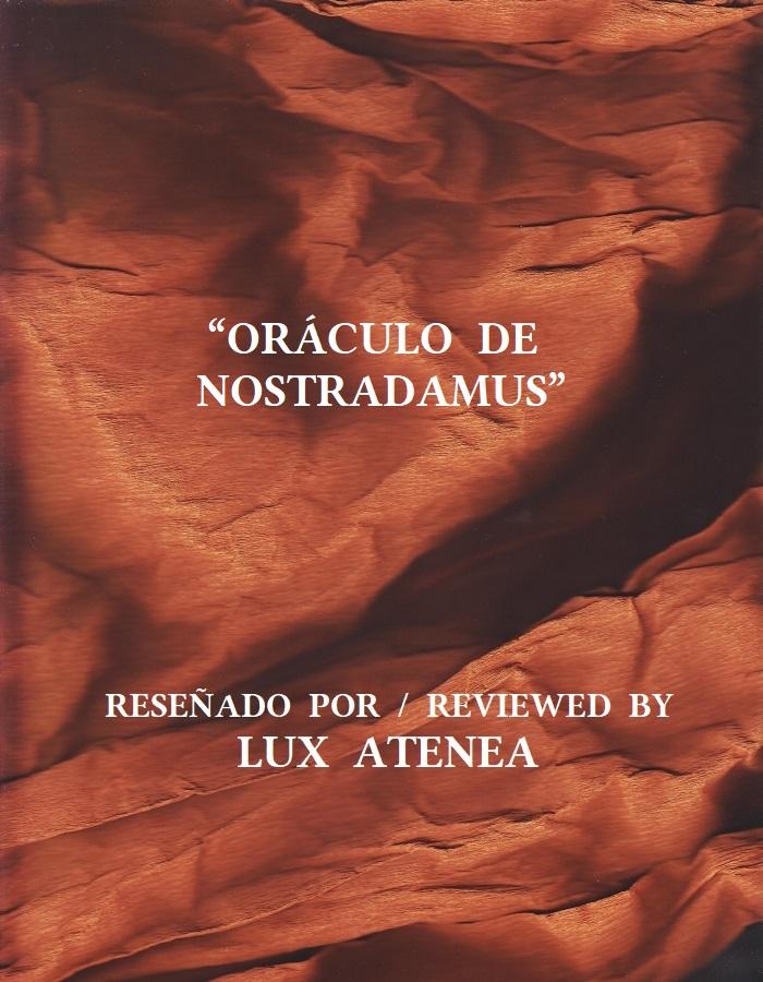 ORACULO DE NOSTRADAMUS