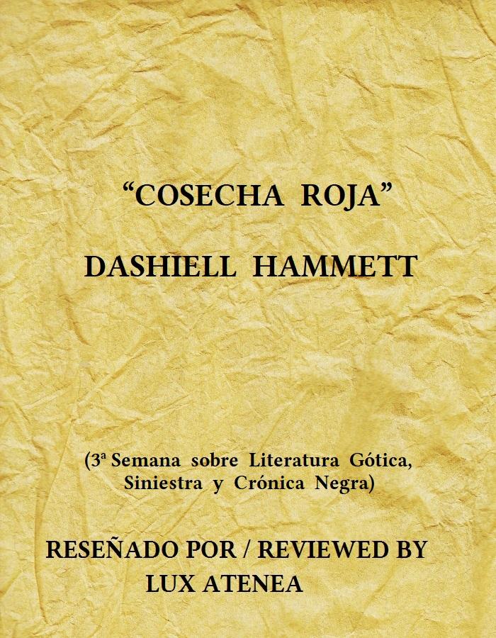 DASHIELL HAMMETT COSECHA ROJA