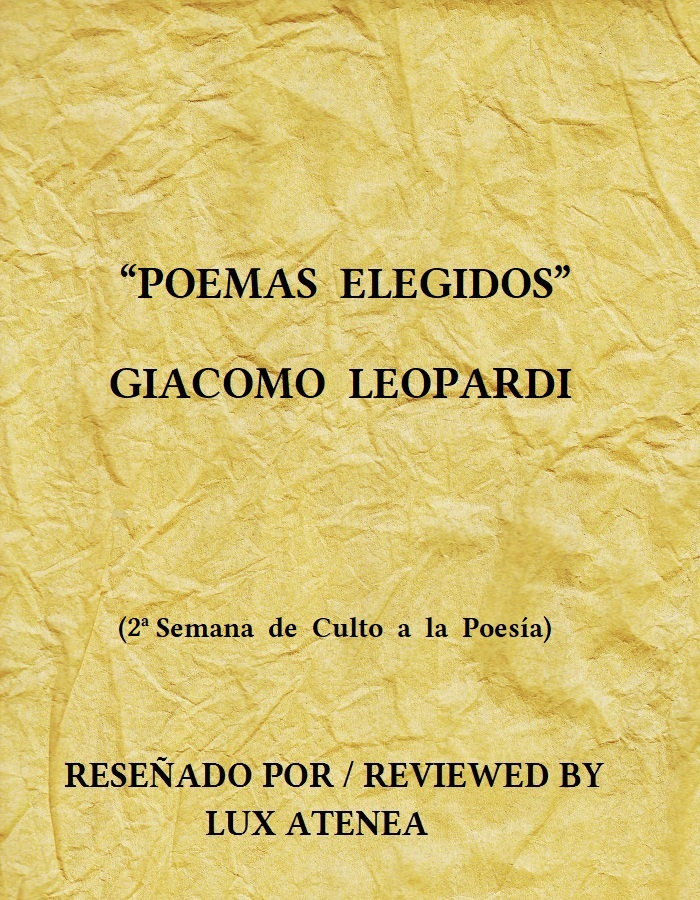 GIACOMO LEOPARDI POEMAS ELEGIDOS