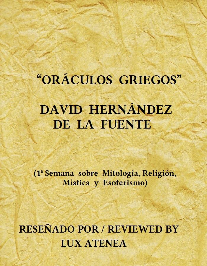 ORÁCULOS GRIEGOS DAVID HERNÁNDEZ DE LA FUENTE