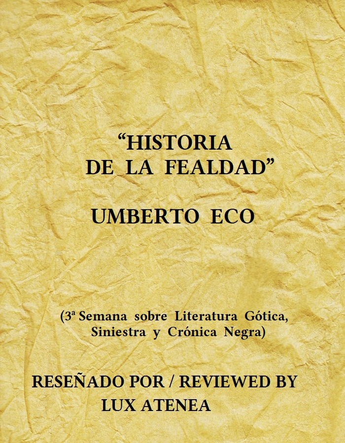 UMBERTO ECO HISTORIA DE LA FEALDAD